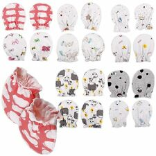 4pc Unisex Newborn Baby Infant Anti-scratch Soft Cotton Mittens Gloves Handguard