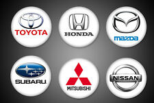 Japanese Cars Magnets Toyota Honda Nissan Subaru Mitsubishi Mazda Fridge 1""
