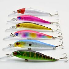 6pcs Lot Sink Minnow Fishing Lures Bass Crank Bait Hook Fish Tackle 10.1cm/9.35g