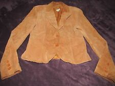 WOMENS CACHE LEATHER SUEDE BLAZER COAT JACKET SIZE 12 NICE SHAPE