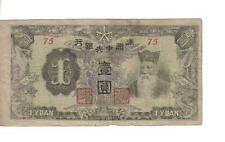 CHINA / MAN CHU KUO, 1 YUAN, T'ien Ming @ r, P#J135b, ND(1944)