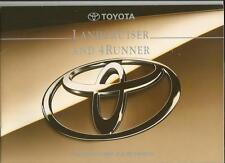 TOYOTA LANDCRUISER  AND 4RUNNER SALES BROCHURE APRIL 1995