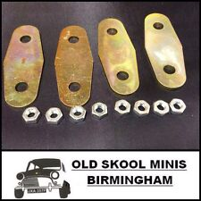 CLASSIC MINI DOOR HINGE SUPPORT PLATE x4 INC. NUTS ROVER ZINC PLATED ALA6381 5K8