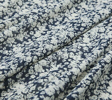 Elegant silk blends cotton,floral silk,fresh style,countryside,craft by the yard