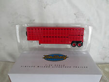 TOP SHELF REPLICAS 1/64 VINTAGE RED WILSON LIVESTOCK CATTLE POT TRAILER FITS DCP