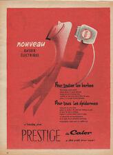 Publicité  PRESTIGE de CALOR rasoir electrique