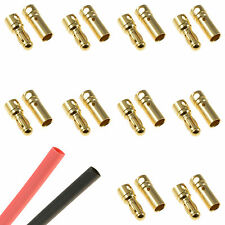 10 x RC 3.5mm Pairs Gold Bullet Connector + Heat Shrink Lipo Battery ESC Motor