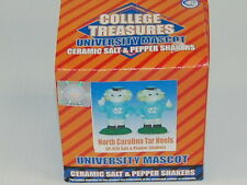 NORTH CAROLINA TARHEEL NEW COLLEGE TREASURE SALT/PEPPER SHAKER ORIGINAL BOX