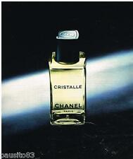 PUBLICITE ADVERTISING 095  1976   CHRISTALLE  eau de toilette CHANEL