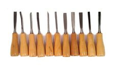 Lot of 12- 11 Piece Wood Carving Hand Chisel Tool Sets - Woodworking Gouges