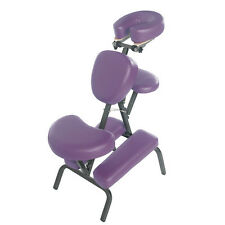 PORTABLE FOLDABLE STEEL UPRIGHT MASSAGE CHAIR W/CARRY BAG - SPA/TATTOO - PURPLE