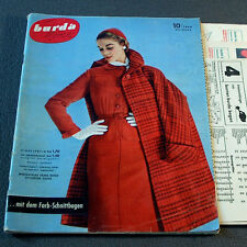 Modezeitschrift BURDA MODEN 10/1954 - 2 Schnittmuster-Bg 50er Jahre ABENDMODE