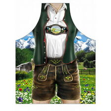 Barbecue apron Lederhosen costume Grill printed with Free Certificate