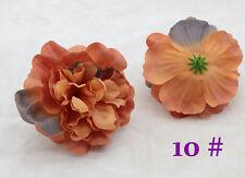 2PCS NEW 11cm Brown Dahlia Rose Artificial Fake Silk flower Heads Wedding Party