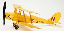 Tiger Moth complete vintage model rubber band powered balsa wood aircraft kit