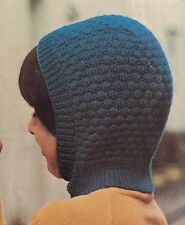 Knitting Pattern For Kids Wooly Balaclava Helmet Hat - Children's