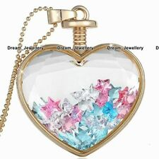 Gold Necklace Crystal Star Charms Pendant Chain Christmas Gifts for Her Girl SA1