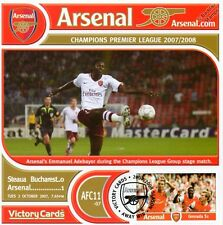 Arsenal 2007-08 Steaua Bucharest (Adebayor) Football Stamp Victory Card #711