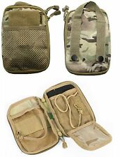 KOMBAT MOLLE BUDDY POUCH A6 UTILITY BRITISH ARMY CAMO  BTP MTP Multicam Phone Ad