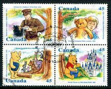 CANADA 1996 WINNIE THE POOH - WALT DISNEY SET WITH A FIRST DAY CANCELLATION!