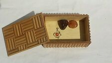 Magic Sex Chakra Inspired WoodenTrinket Box - Free Amulet - Gemstone Gift Set