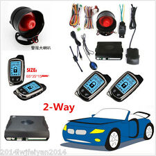 2 Way Car Alarm Security System With 2 Pcs LCD Super Long Distance Controlers