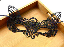 Fancy Black Cat Mask Black Lace Party Ball Masquerade Dress 50 FIFTY SHADES