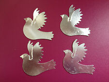 10 SILVER METAL DOVE WEDDING CHRISTENING CARD MAKING CRAFT EMBELLISHMENTS