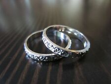 925 Sterling Silver Signed TWO Classic Band Rings Size 5,5 – 5,75 - 2 Grams.