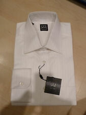 NEW $190 IKE BEHAR MENS SHIRT Sz 16 34 35 Luxury Cotton white BC