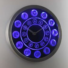nc0945-b Circle of Fifths Guitar Music Neon Sign LED Wall Clock