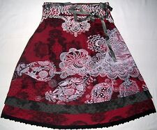 Beautiful Desigual Deliney Red Knee Length 60cm Skirt Size XS