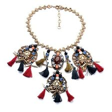 BEAUTIFUL ANTHROPOLOGIE TASSELS STATEMENT NECKLACE – NEW