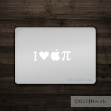 I Heart Apple Pi - Mac Apple Logo Cover Laptop Vinyl Decal Sticker Macbook Pie