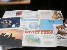 National Geographic Magazine World Maps lot vintage antique ephemera 15 pieces