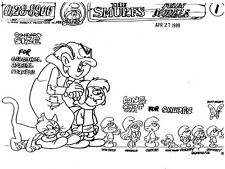 SMURFS ~ HUGE 149-PAGE SET OF HANNA-BARBERA MODEL SHEETS ~ MULTIPLE IMAGES
