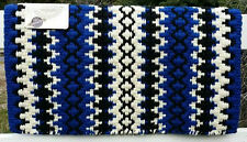 Mayatex Wool Show Saddle Blanket Pad 34x40 Royal Blue Black White THICK Horse