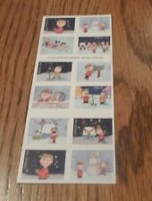 A CHARLIE BROWN CHRISTMAS XMAS PEANUTS SNOOPY FOREVER FULL SHEET BOOK STAMPS