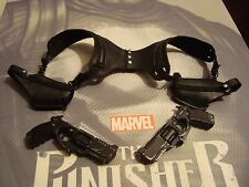 SIDESHOW 1/6 THE PUNISHER ----shoulder harness w/ holster & pistols - US SELLER