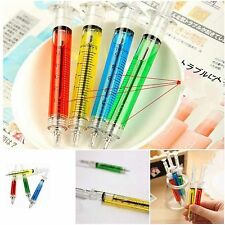 New 4Pcs Doctor Nurse Gift Liquid Syringe Injection Ballpoint Pen Ballpen SPUK