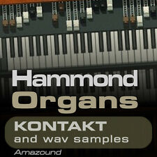 64 HAMMOND ORGANS for KONTAKT nki INSTRUMENTS & 1152 WAV SAMPLES 24 & 16 bit HQ