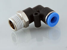 10mm x 1/4 Bsp Plastic Push in Swivel  Elbow Fitting with s/s claw       b85
