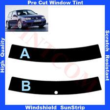 Pre Cut Window Tint Sunstrip for VW Golf IV 3 Doors Hatch 1998-2003 Any Shade