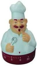 Novelty Happy Chef 60 Minute Clock Kitchen Egg Wind Up Timer Cooking Kitchen RED