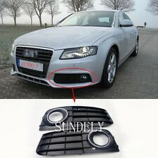 1 Pair Front Bumper Fog Light Grille Cover For Audi A4 A4L B8 2009 2010 2011 New