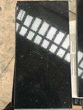 BLACK TILES QUARTZ STONE WITH MIRROR CHIPS STYLISH CHEAP 3 SIZES £14.99/SQM
