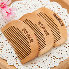 2pcs Natural Handmade Sandalwood Wide Tooth Comb Wooden Hair Care Head Massage
