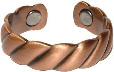 PURE COPPER MAGNETIC STYLE # C RING jewelry health magnet pain relief new smooth