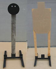 """8"""" AR500 Steel Target w Hanger and Combination Stand for IDPA/USPSA/IPSC Targets"""