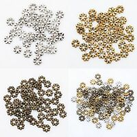 1000pcs Tibetan Silver Daisy Flower Spacer Beads Jewelry Findings 4mm